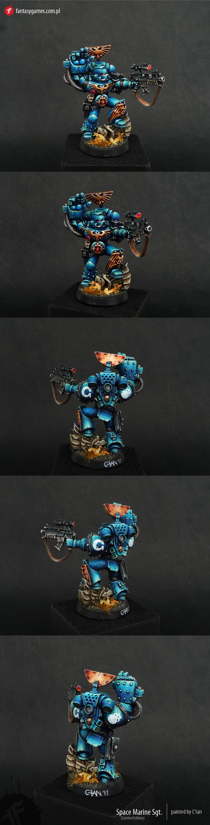 CoolMiniOrNot - Space Marine Sergeant (Web Exclusive) by fantasygames.com.pl