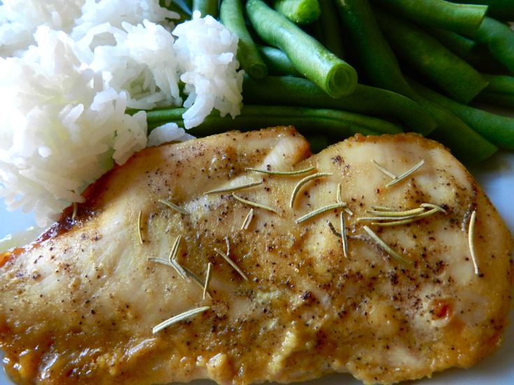 """The World's Best Chicken - dijon mustard, maple syrup, red wine vinegar, salt & pepper, rosemary """"So good it can't be described, Explosion on your taste buds chicken"""""""