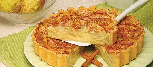 Receita de Tarte de peras. Descubra como cozinhar Tarte de peras de maneira prática e deliciosa com a Teleculinaria!