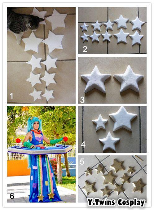 How to make stars Arcade Sona Cosplay.