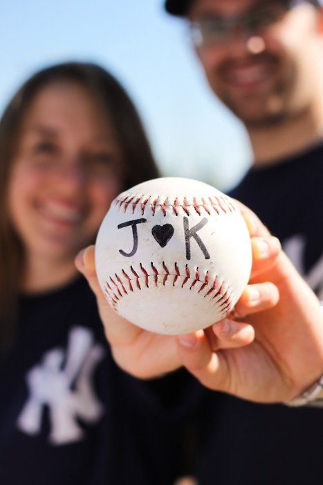 baseball engagement pictures only with reds gear lol