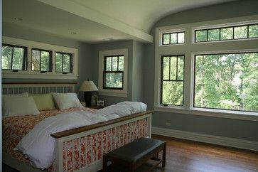 Bungalow Renovation and addition traditional bedroom-I love these windows and the open, airy bedroom.