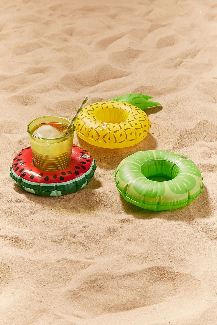Fruit Drink Holder Pool Float Set from Urban Outfitters. Perfect for parties to end off summer!