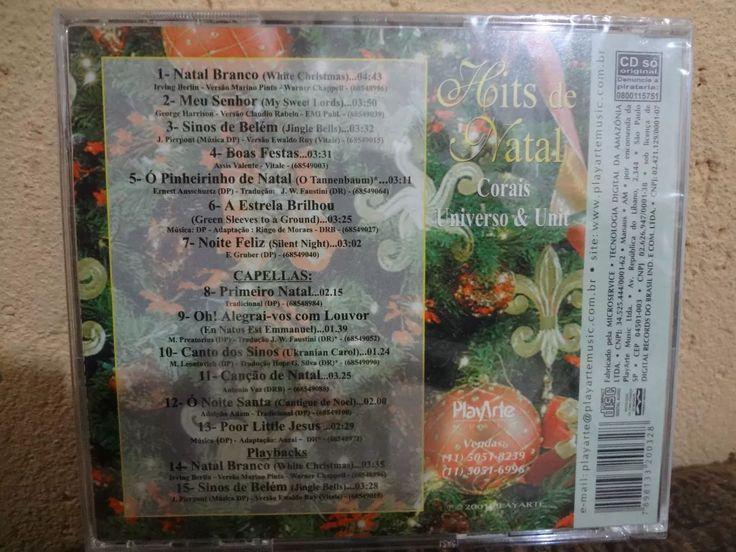 Cd - Hits De Natal Corais Universo E Unit - Original - R$ 5,90