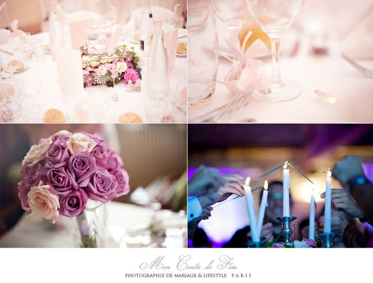Décoration de table rose poudrée. Décoration de table de mariage. Photographe de mariage et life style France www.moncontedefees.com