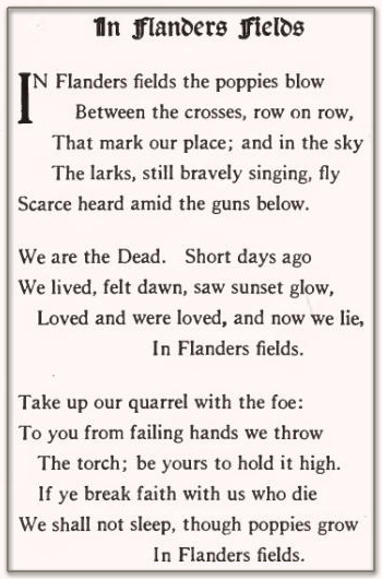 War poems the soldier , in flanders field and disabled essay