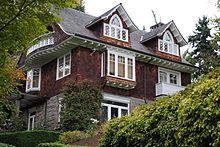 Kurt Cobain's house, 171 Lake Washington Boulevard East, in Seattle, Washington, the site of Kurt Cobain's death.