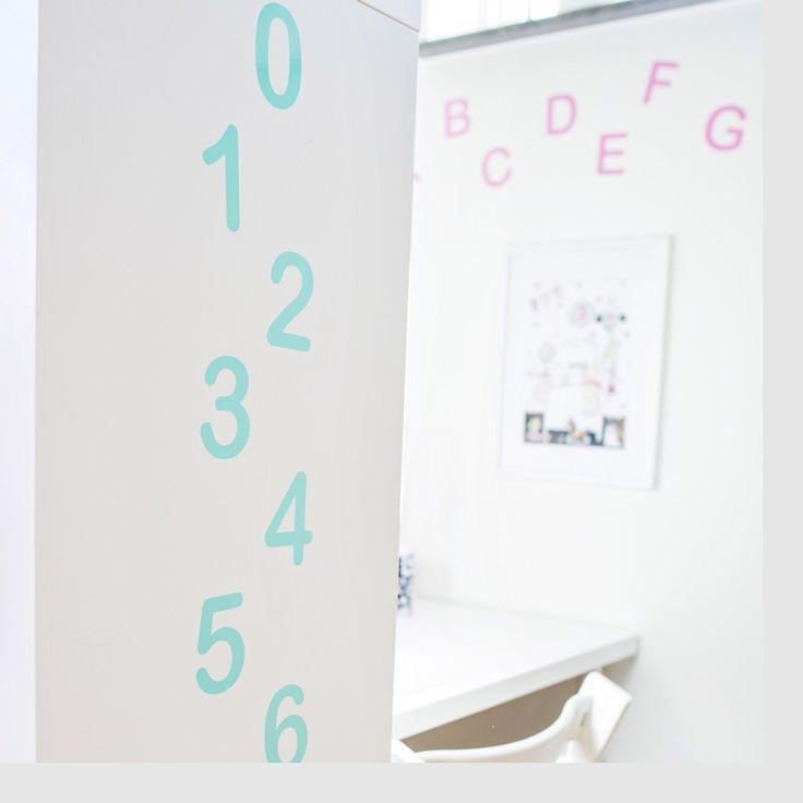 Väggdekor Bokstäver & Siffror