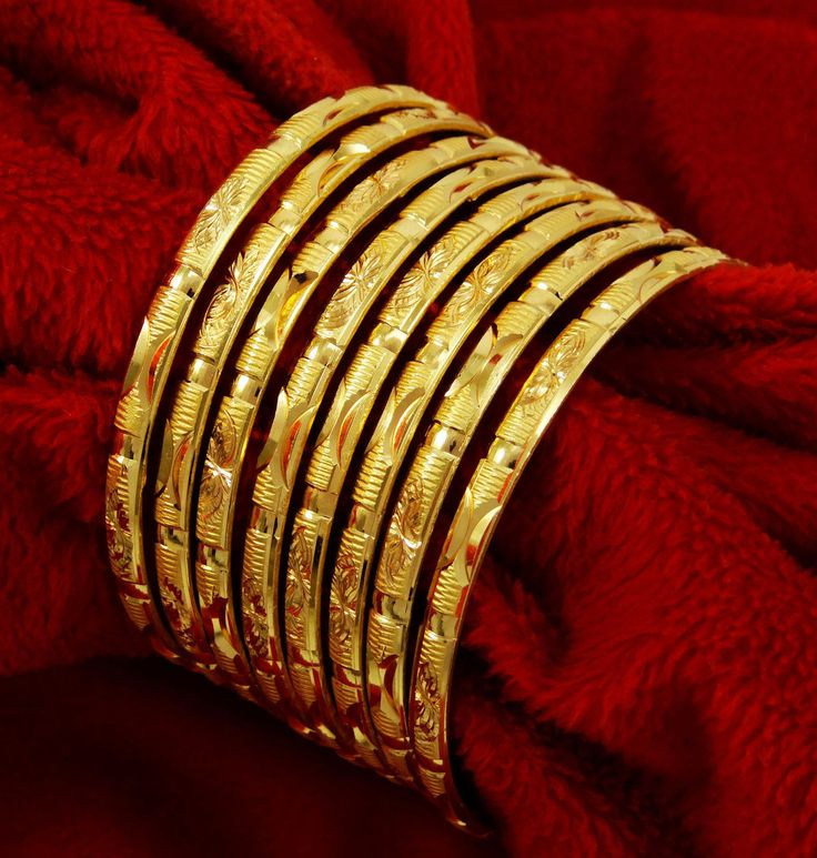Traditional Goldtone Kada Bangles Bollywood Bridal Bangle Bracelet Jewelry 24