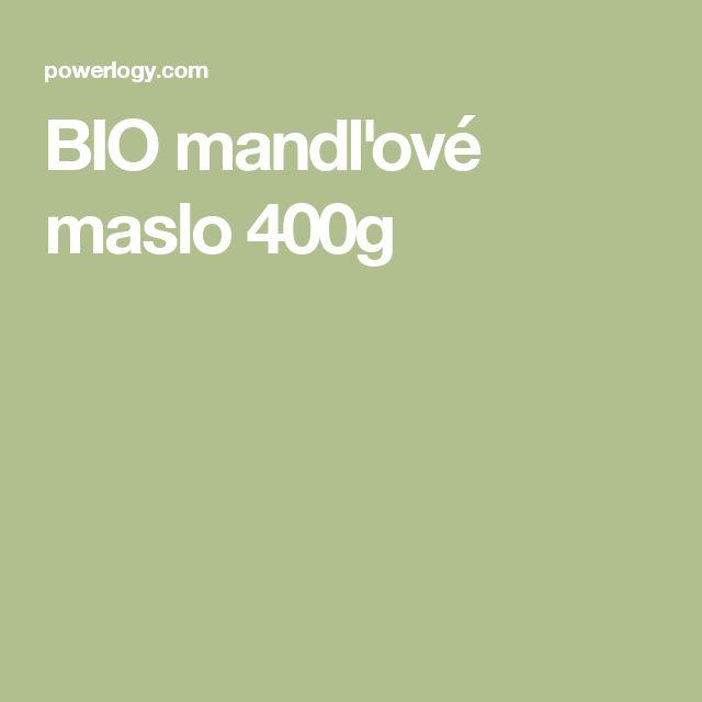 BIO mandľové maslo 400g