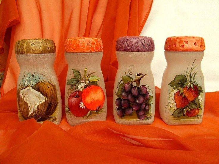 Especieros con botes de cafe frascos botellas y for Envases de vidrio decorados