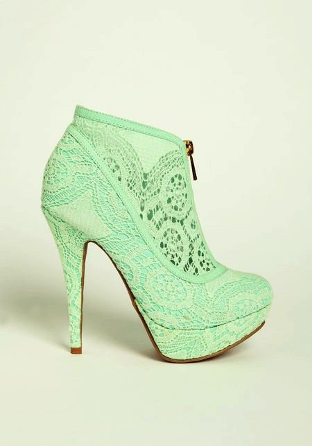 ❤ mint shoes wish I could wear a pair of these without falling