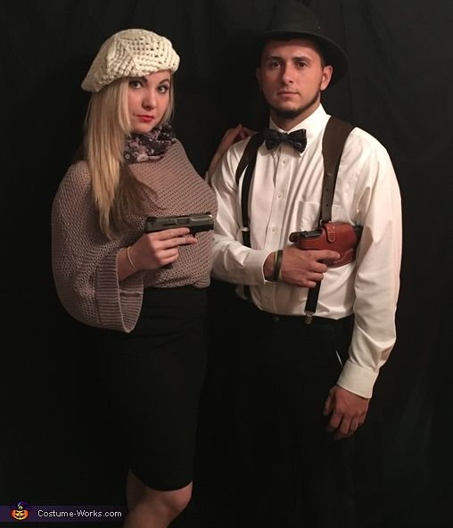 Brittany: This is a picture of me and my boyfriend ( Brittany and JT) we are dressed as Bonnie and Clyde! We wanted to be something together, but not the cliche...