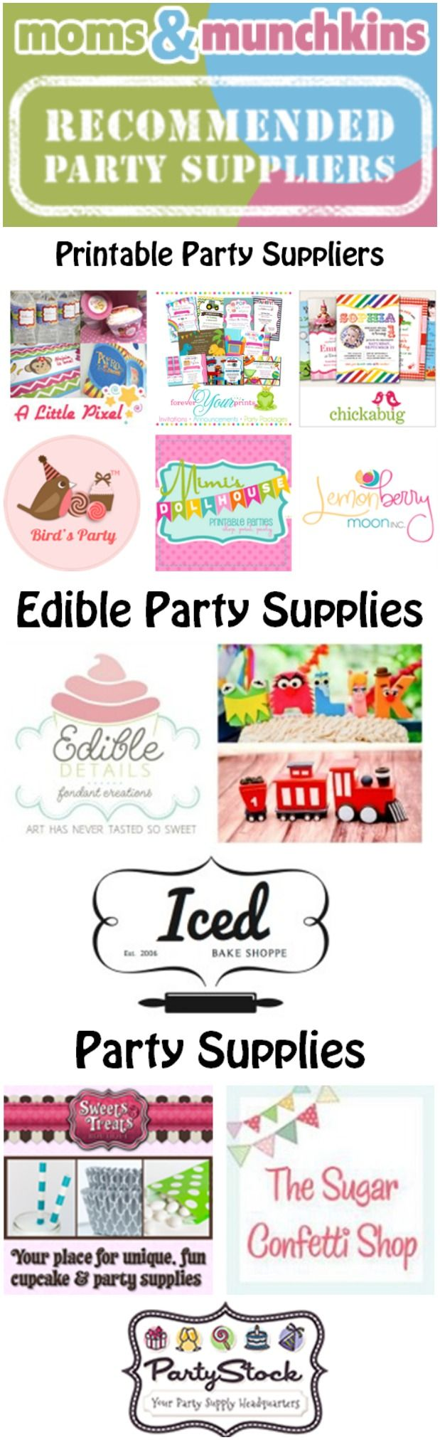 Recommended Party Suppliers #PartySupplies
