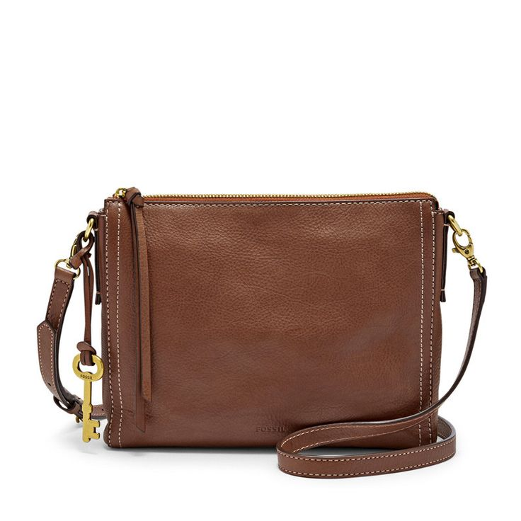Fossil Emma Crossbody Brown. Rp 2.215.000