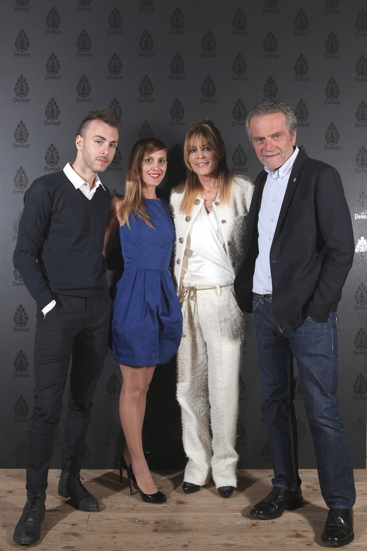 Manuela Mariotti and Massimo Berloni with Asaf Avidan and his patner - Dondup Event for Milan Woman's Fashion Week - Franco Parenti Theatre