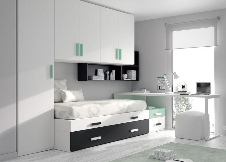 #dormitorio juvenil de @mueblesros: #camanido #escritorio y #armario Solo para mentes originales
