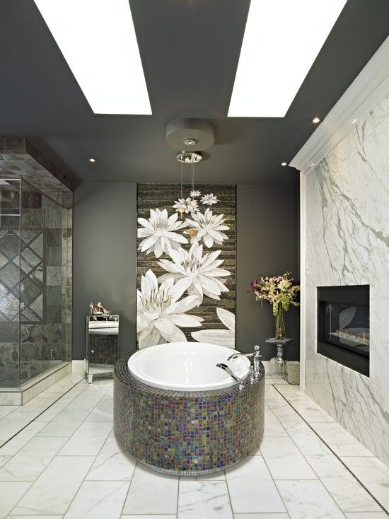 Inspiration From Bathrooms.com: Gorgeous Asian Inspired Bathroom With A  Giant Tile Mosaic Part 91