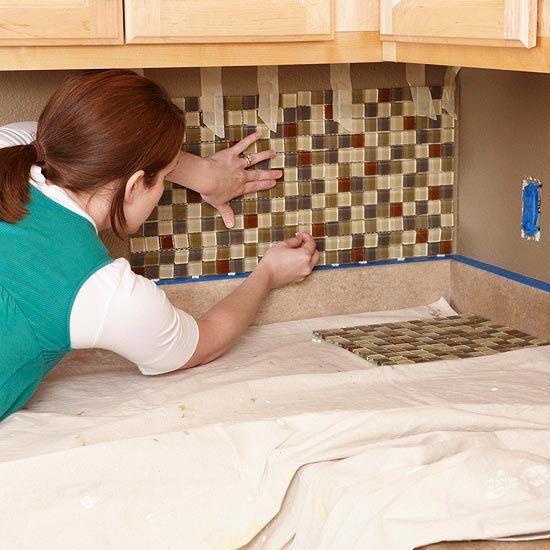 How to tile your backsplash. #DIY #Home
