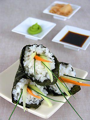 Temaki-zushi z warzywami