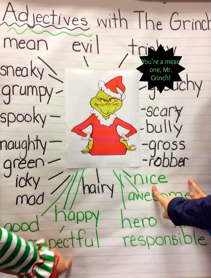 adjectives to describe the grinch
