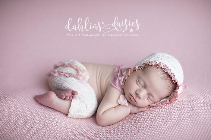 Dallas Newborn Twin Photographer, newborn girl, pink, no2, bonnet and pants