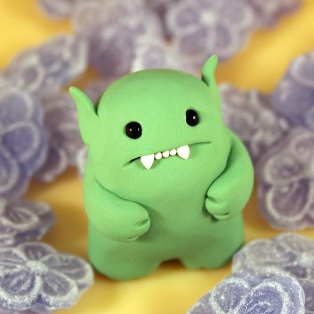 Modeling clay monsters so cute :)