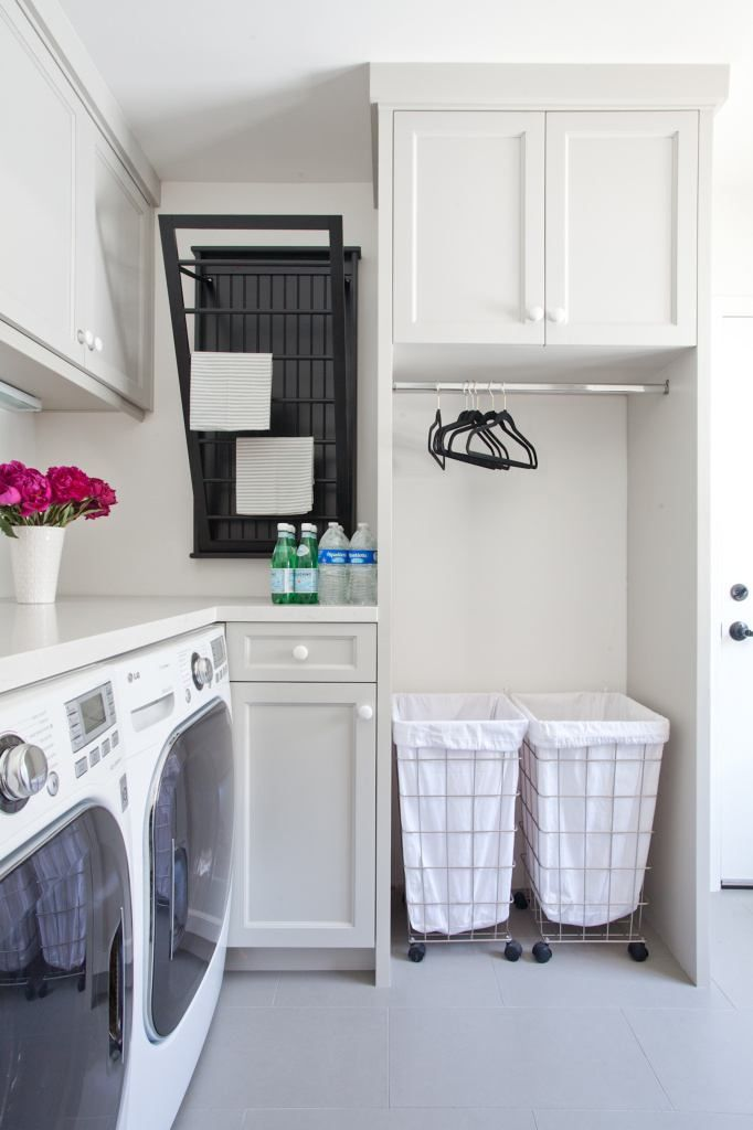 Contemporary Laundry Room with Storage