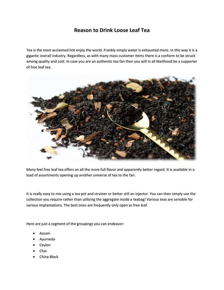 "View #Document ""Reason to drink loose leaf tea"" by halmari tea."