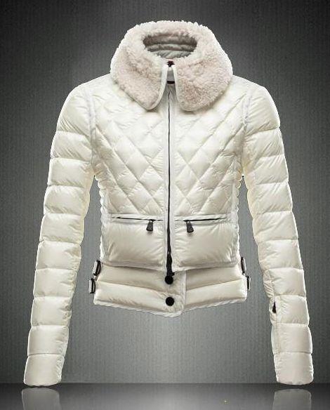 Moncler 2013 Cool Lamb fur Lapel Down Jackets White - : off discount code:  happywinter