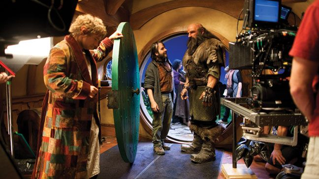 Behind-the-scenes on the set with Martin Freeman & Peter Jackson from the October 26 issue of The Hollywood Reporter