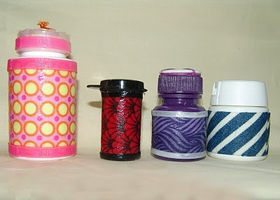 Decorative pill bottles crafts by me pinterest for Small pill bottles