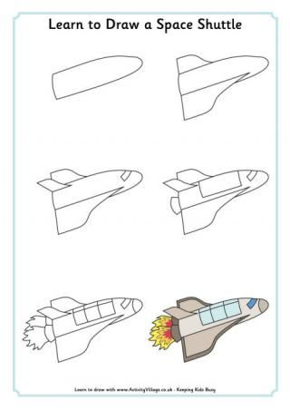 Apprendre à dessiner une navette spatiale