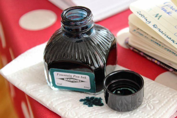 Write to Me Often: Diamine Teal Ink Review / Diamine Teal Mürekkep In...