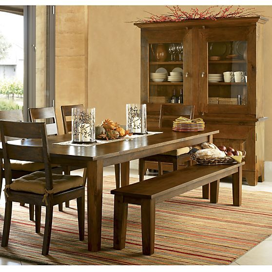 Basque Honey 104  Dining Table in Dining  Kitchen Tables   Crate and Barrel. Best 25  Buffet with hutch ideas on Pinterest   Hutch ideas