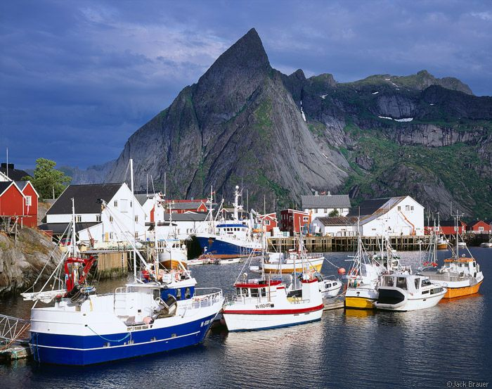 Hamnøya Boats : Lofoten Islands, Norway : Mountain Photography by Jack Brauer