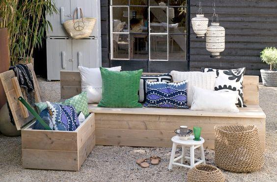 12 tolle Ideen Sitzbänke für draußen zum Selbermachen. - DIY Bastelideen