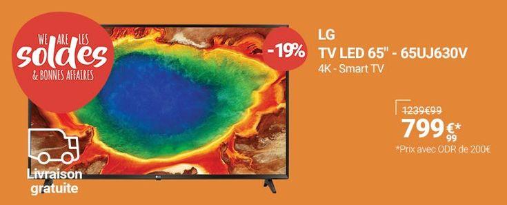 Soldes Téléviseur Rue du Commerce , achat LG TV LED 164cm 65UJ630V pas cher prix Soldes Rue du Commerce 799.99 € TTC au lieu de 1 239.99 €