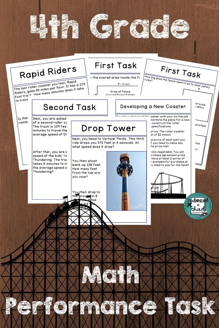 Fourth Grade Multi Step Word Problem Solving Be A Consultant For A Roller Coaster Theme Park Solve Math Tasks Third Grade Math Worksheets Performance Tasks