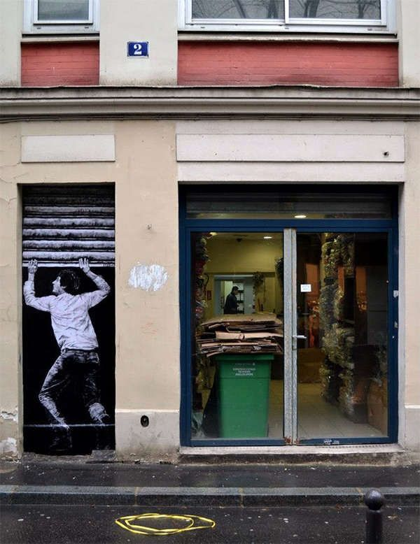 Extreme Site-Specific Art - Artist Lavalet Creates Wheatpaste Street Art in France (GALLERY)