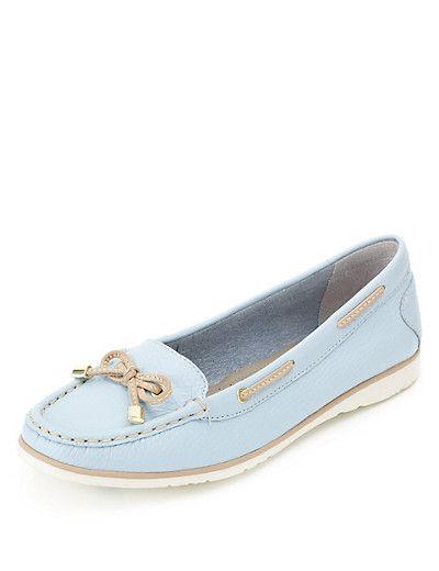 Powder blue boat shoes