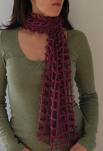 Crocheted Mesh Scarf: free pattern