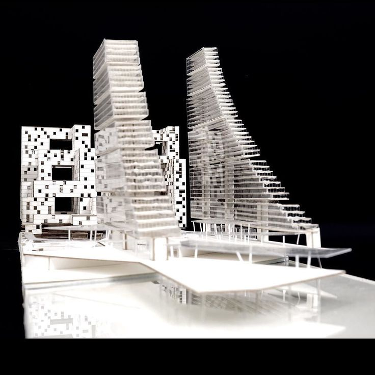 By elements of urban design section model with