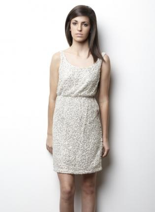 Off-white Party Dress - GLAM @Shannon Michelle $88