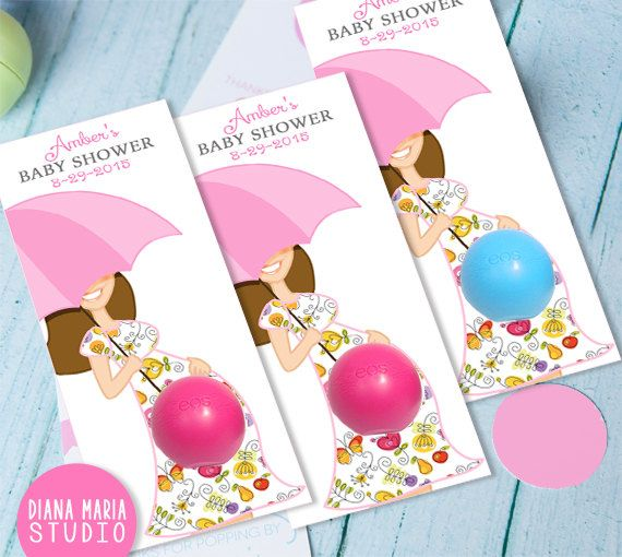 baby shower favors with eos lip balm by on etsy