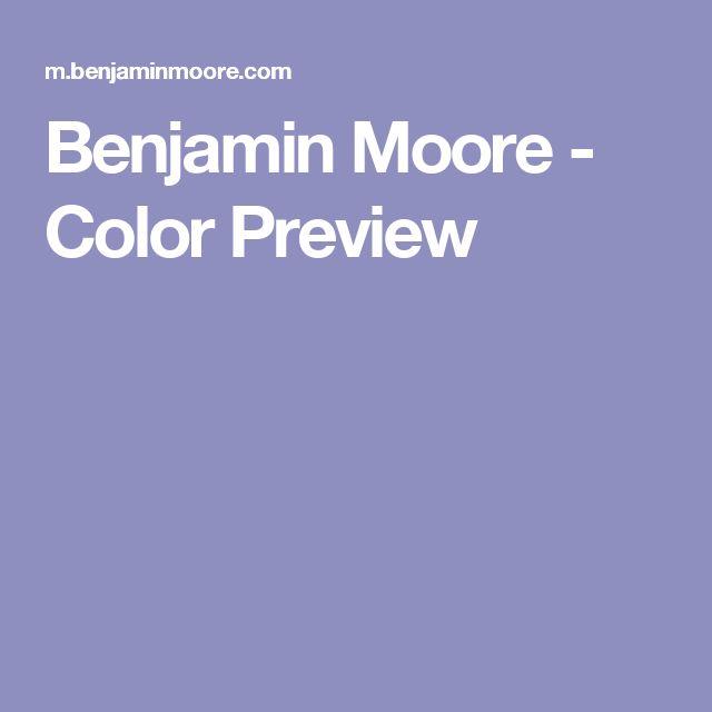 Benjamin Moore - Color Preview