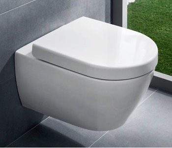 Ground floor WC - simple wall hung. very smooth no dirt traps! Villeroy Boch Subway
