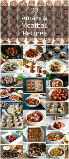 So many meatball recipes, so little time. These meatballs are seriously the best ones out there with everything from grape jelly meatballs to Ikea meatballs and more! #meatballs #dinner #dinnerrecipes