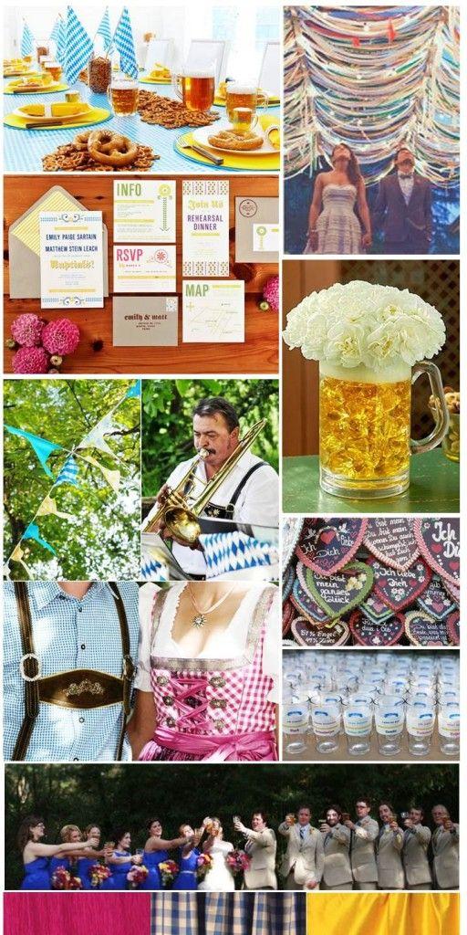 Biergarten Hochzeit - Bavarian Wedding beerarden style!