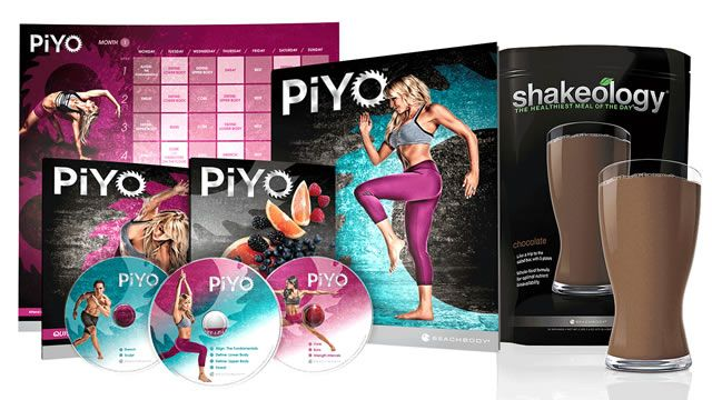 If you love Pilates and/or Yoga, but want to keep it up-tempo throughout your workout... you will LOVE PiYo!  No equipment needed, just need the space of a yoga mat, and most every move is low-impact.  Burn calories, sweat out toxins, and define your body!  Chalene Johnson isn't just a fitness trainer, she will leave you more comfortable in your own skin!
